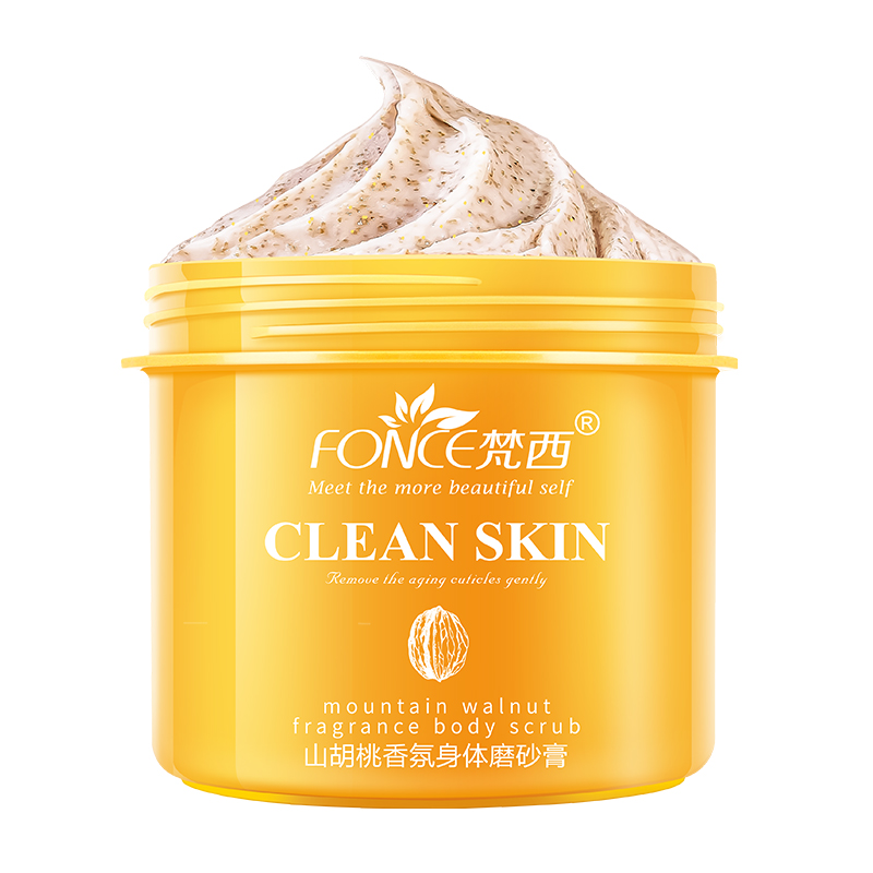 Fonce Hickory Fragrance Body Scrubs 250g Peeling Cream Shea Butter Rejuvenation Body Exfoliating Improves Peripheral Keratosis