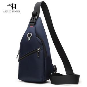 Image 5 - 2019 neue Männliche Brust Tasche Mode Freizeit Wasserdichte Mann Oxford Tuch Korea Stil Messenger Schulter Tasche Für Teenager Tasche