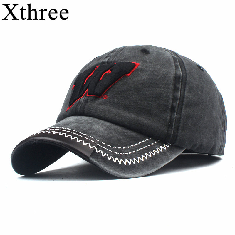 Xthree Cotton W Baseball Caps For Men Women Snapback Hat Embroidery Casual Cap Casquette Dad Hat Hip Hop Cap
