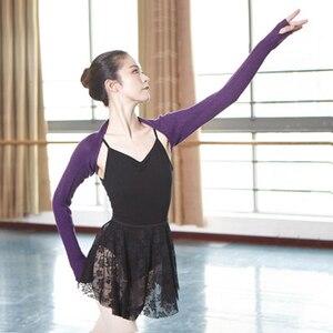 Image 4 - Top de Ballet para mujer, de 6 colores traje de baile, cálido, de punto, de manga larga, para Otoño e Invierno