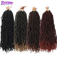 Вязаные волосы 18 дюймов Nu Locs синтетические Омбре коричневый черный плетение волос 20 прядей искусственные локоны в стиле Crochet косы