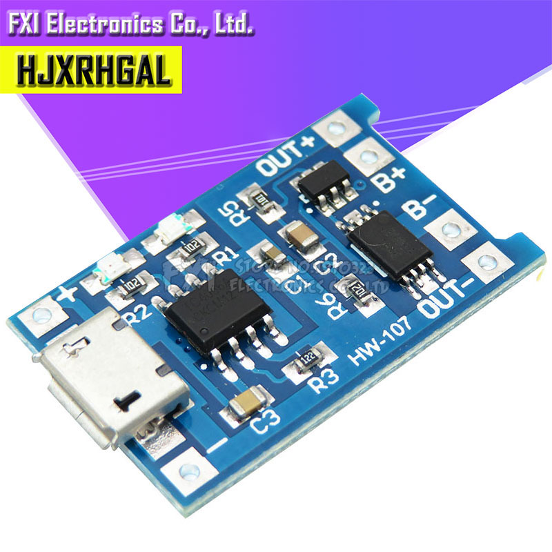5PCS Micro USB 5V 1A 18650 TP4056 Lithium Charger Module Charging With Dual Functions 1A Li-ion Battery Protection Board New