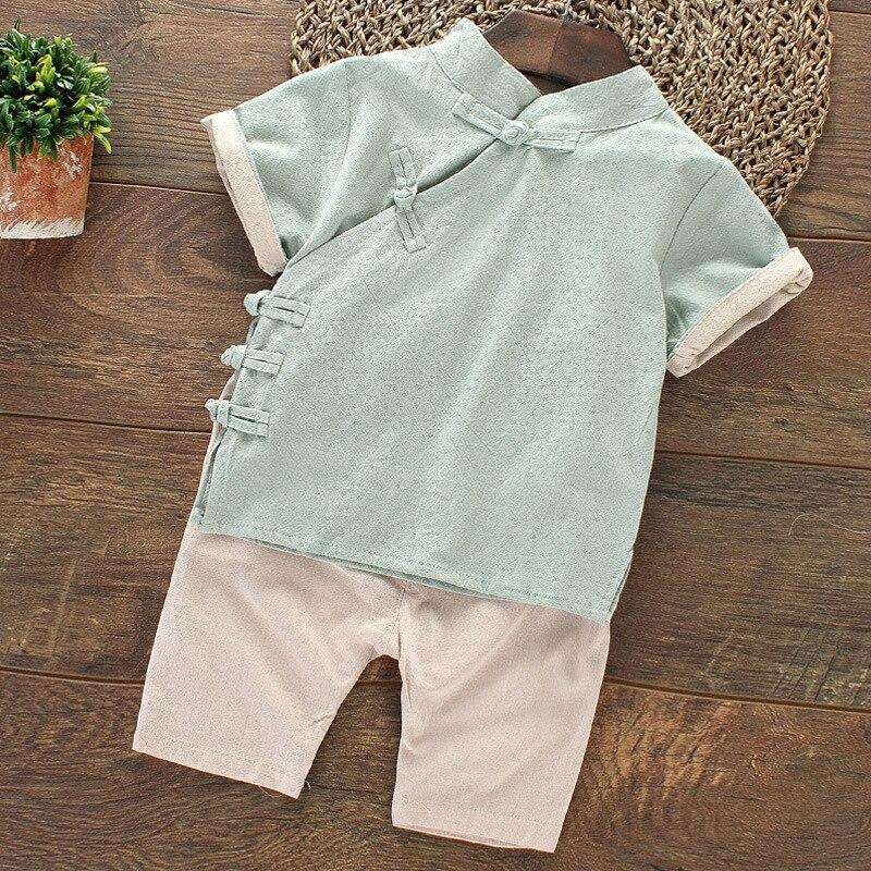 2018 Spring And Summer New Style Ethnic-Style Children Cheongsam Cotton Linen Handicap CHILDREN'S Jacket Flax Cheongsam