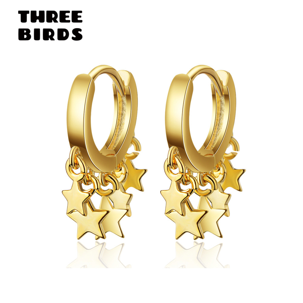 Trendy Star Tassel Korean Earrings Luxury Charm Gold Silver Dangle Earrings For Women Fashion Jewelry 2019 Aretes De Mujer
