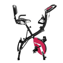 Indoor Folding Upright Bike low noise spinning cycling bike adjustable cushion indoor Cycling for Exercise
