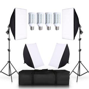 4 LED 20W Photo Studio SoftBox Camera Ph