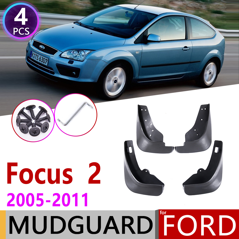 Mudflap for <font><b>Ford</b></font> <font><b>Focus</b></font> 2 <font><b>MK2</b></font> <font><b>MK2</b></font>.5 Hatchback <font><b>2005</b></font>~<font><b>2011</b></font> Fender Mud Guard Splash Flaps Mudguard Accessories 2006 2007 2008 2009 image