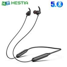 DD9 Neckband Wireless Earphone Sport Earhook Earpiece Magnetic Attraction Bluetooth Neck Headset for