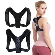Suspensórios suporta cinto ajustável para trás postura corrector clavícula coluna volta ombro lombar cinta médica correção de postura cinto