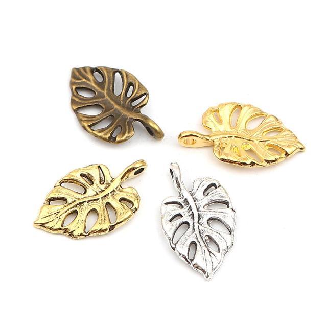 10 Natural Black Lip Shell Leaf Pendants Filigree Hollow Big Dangle Charms 47mm