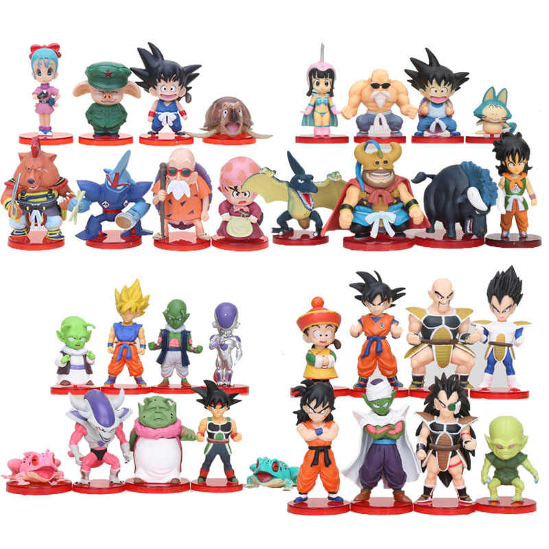 Brinquedos de Super Goku Freeza Dragon ball Bulma Olong pçs/set 8 Nappa Dragonball Figura Piccolo Vegeta anime modelo toy