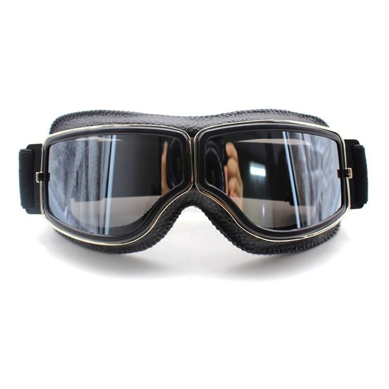 Vintage Motorcycle Goggles Retro Motorbike Scooter Biker ATV Glasses Universal Helmet Goggles Foldable Vintage Off-Road