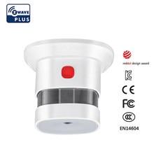 Zwave sensor de fumaça casa inteligente versão da ue 868.42mhz z-onda detector de fumaça energia a pilhas