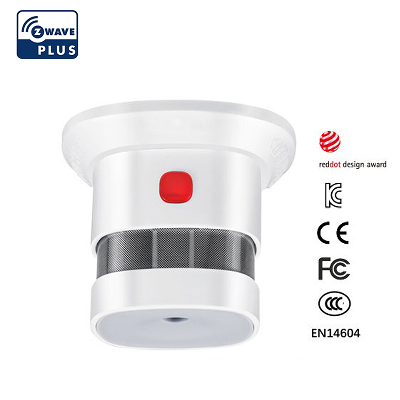 Zwave Smoke Sensor Smart Home EU Version 868 42mhz Z-wave Smoke Detector Power Battery Operated
