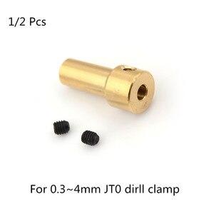 1 или 2 шт. латунь 2,3 мм моторный вал зажим патрон для электрической дрели JT0 Двигатель сцепления вал зажим для муфты