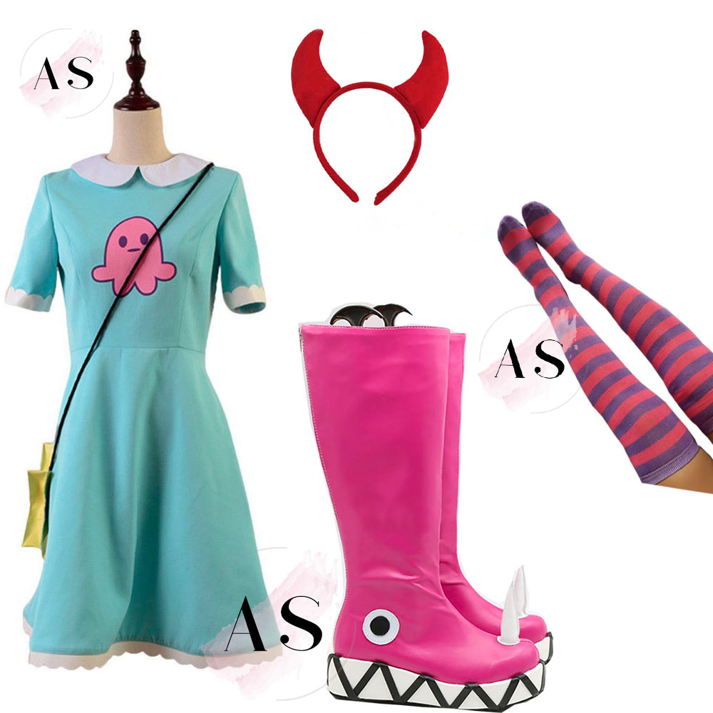 New  Star Vs.the Forces Of Evil Cosplay Costume Princess Star Butterfly Attire Dress Halloween Cosplay Costumes