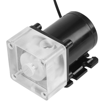 12V 0.8A 10W G1/4 Thread Low Noise Water Pump for CPU PC Computer Cooling System g1 4 thread water cooling tank 50mm x 140mm acrylic cylinder reservoir tank for pc computer liquid cooling with l shape buckle