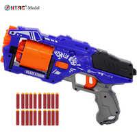 Pistola giocattolo con 20 pezzi freccette bullets Refill Freccette Giocattolo Proiettili Schiuma Sicuro Ventosa Proiettile per Nerf Giocattolo per bambini gun