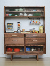 Doll House Miniature Kitchen Furniture Cabinet Cupboard for 1/6 Bjd Doll Accessories Storage Play House Kids Gift Doll DIY Toys