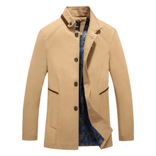 Men's Fashion Casual Boss High collar Jacket Middle-aged