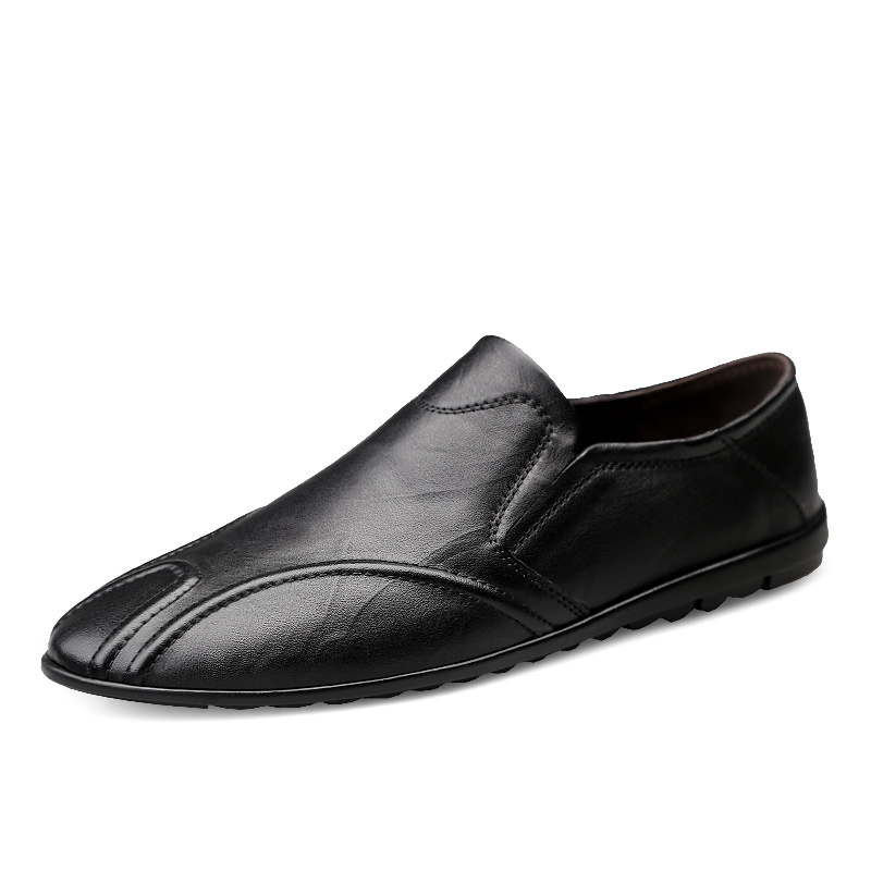 New Men Leather Boots Men Comfortable Casual Waterproof Autumn Boots Men's Shoes Business Leather Peas Shoes %8207