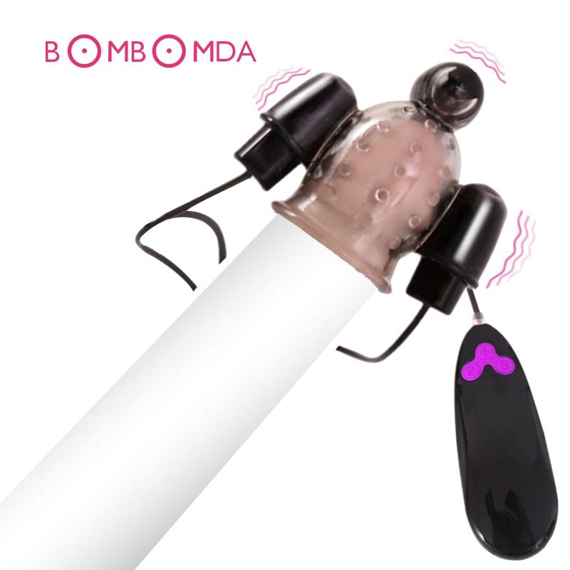 Vibrating Ghost Exerciser Sex Toy For Adult Sex Products Glans Vibrator Penis Pump Enlargement Vibrator For Men Masturbator