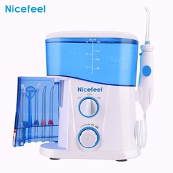 Nicefeel Dental Oral Irrigator Teeth Cleaner Water Flosser Spa Tooth Care Clean With 7 Multifunctional Tips For Family