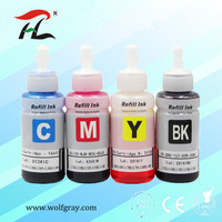 Compatible dye based refill ink kit for Epson printer L100 L110 L120 L132 L200 L210 L222 L300 L312 L355 L350 L362 L366 L550