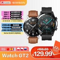 Huawei Horloge Gt 2 GT2 46Mm Global Versie Bluetooth 5.1 14 Dagen Batterij Leven Telefoontje Hartslag Android ios Smart Horloge