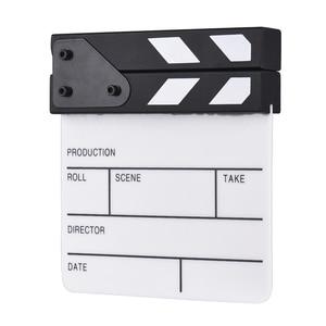 Image 4 - Compact Size Acrylic Clapboard TV Film Movie Director Cut Action Scene Clapper Board Slate