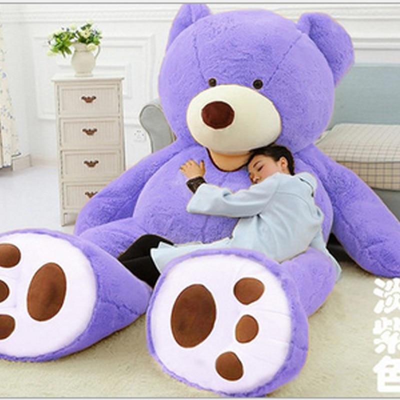 Оптовая продажа, 1 м-2,6 м, американский гигантский медведь, кожаный медведь, мягкие плюшевые игрушки для детей, детские игрушки, хорошее качес...