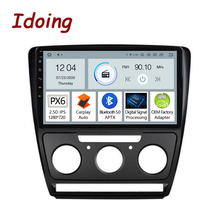 "Idoing 10.2""2.5D  PX6 Car Android Auto Radio Multimedia Player For Skoda Octavia 2 A5 2008 2014 GPS Navigation Carplay Bluetooth"