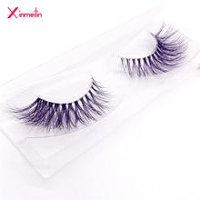 New 9D color mink false eyelashes wholesale fake lashes natural long makeup lashes extension eyelash mink eyelashes for beauty