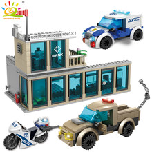 627pcs Bank break in Building Blocks compatible legoingly City Police policeman figures Car Bricks Educational Toys For children(China)