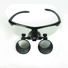 цена на 3.5X Ophthalmic Binocular Dental Clamp Magnifier Portable Clip Medical Loupe Optical Glass Surgery Magnifying Glass