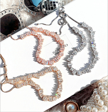ZAKOL Fashion Brand Jewelry Silver Rose Gold Color Rectangle Zirconia Necklace/Torques For Women Anniversary FSNP076