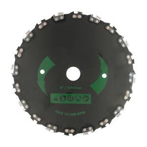 Brushcutter weed aço para 20 dentes-disco motosserra cortador de escova de dentes lâmina de grama resistente velocidade máxima for10000rpm & espessura 2mm