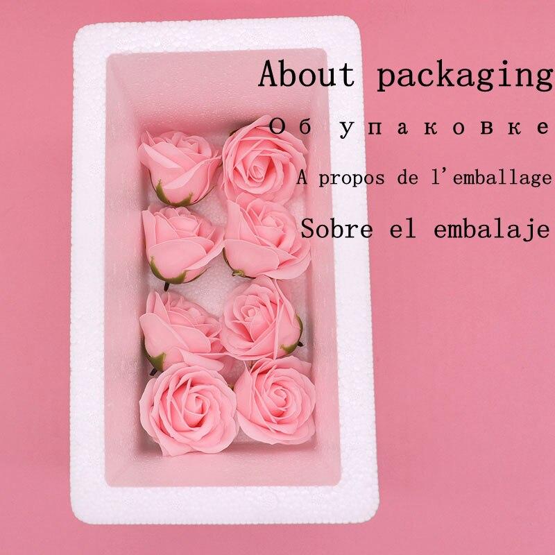 Image 5 - 25Pcs/Box Big Size Bath Soap Rose Flower Plant Essential Oil Soap Romantic Wedding Party Gift Handmade Petals DecorSoap   -