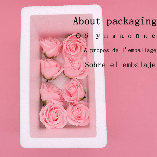 25Pcs/Box Big Size Bath Soap Rose Flower Plant Essential Oil Soap Romantic Wedding Party Gift Handmade Petals Decor 5
