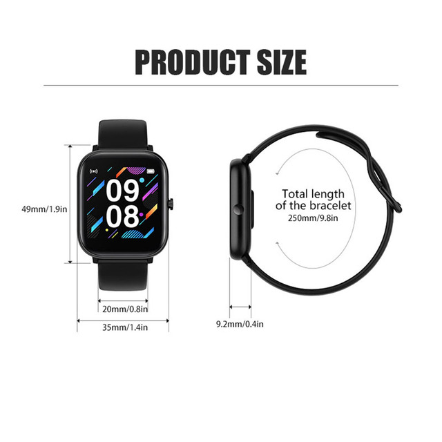 2020 NEWEST Smart Bracelet Heart Rate Monitor Waterproof Sports Smart Watch Support Android IOS 3
