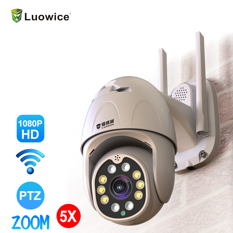 1080P Cloud Wifi PTZ Camera Outdoor 2MP Auto Tracking Home Security IP Camera 5X Digital Zoom Speed Dome Camer Onvif