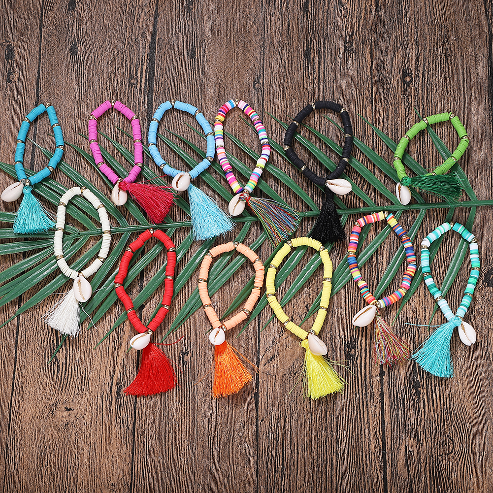 Temperament Cute Raffia Rope Shell Bracelets For Women 2019 Handmade Metal Creative Colorful Bangle Daily Life Present Holiday