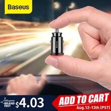 Baseus cep telefonu için araç şarj cihazı 3.1 A hızlı şarj cihazı Mini şarj cihazı çift USB hızlı şarj adaptörü taşınabilir şarj cihazı xiaoMI