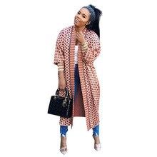 아프리카 의류 코트의 새로운 망토 아프리카 Riche Bazin 드레스 여성을위한 섹시한 카디건 외투 한 코트