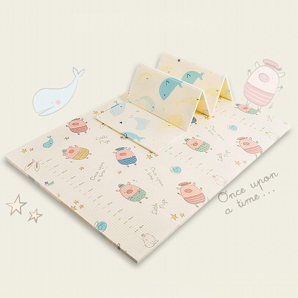 Bébé Double face pliant Puzzle tapis de jeu infantile enfants jeu Pad XPE ramper tapis doux et confortable 180*150*1cm