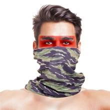 Высокопрыгающая бандана для рыбалки, УФ-шарфы, Полиэстеровые ветрозащитные Анти маскарадные шейные Бандана с изображением масок для лица, уличная рыболовная спортивная одежда, шарф