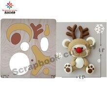 Олень высечки и деревянные штампы резки fit / Scrabooking S5069