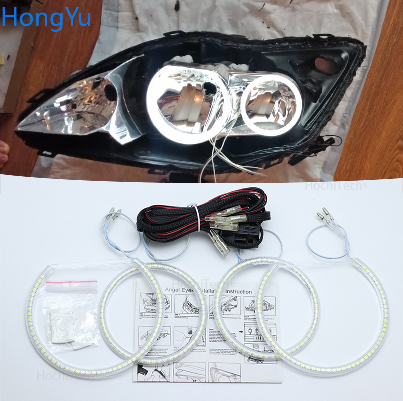 For Ford Focus MK 2 2004-2011 Europe Halogen Headlight Smd Led Angel Eyes Kit Excellent Ultra Bright Illumination DRL