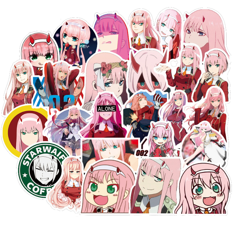 50Pcs DARLING In The FRANXX Japan Anime Stickers Skateboard Suitcase Guitar Luggage Laptop Stickers For Kid Classic Toy F3