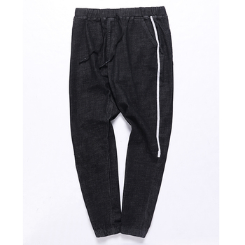 2020 new plus size New Men's Casual Jeans High Elastic Cotton Straight Trousers  New Plus Size Fashion Male Jeans Big Size